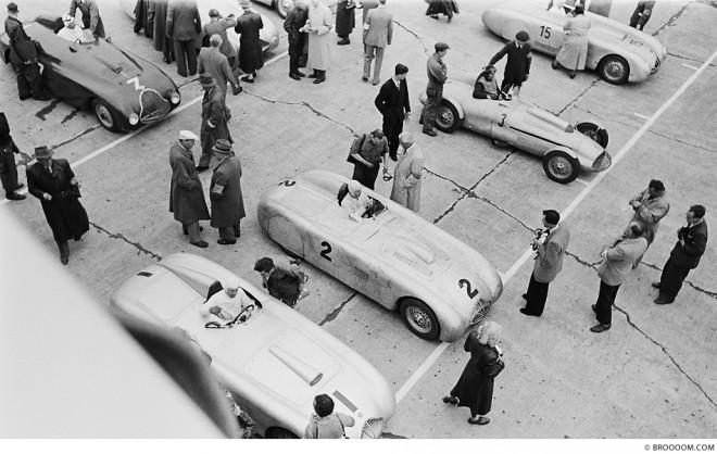 Startaufstellung. Nürburgring 1949.